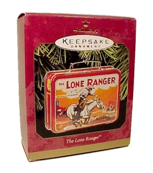 Hallmark Christmas Tree Ornament Lone Ranger Lunchbox 1997  (Image1)