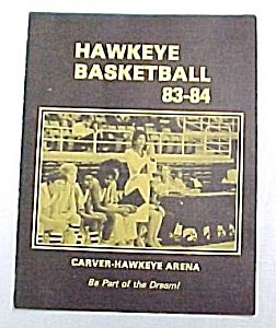 83-84 Iowa Hawkeye Girls Basketball Program Mn Gophers