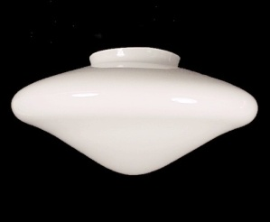 Art Deco Pendant Light Shade White Glass 4 X 5 X 10 Lamp Ceiling Fan (Image1)