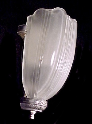 Art Deco Slip Shade Wall Sconce Light Fixture 1920s 1930s Vintage