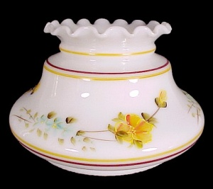 Milk Glass Yellow Floral 7 in Student Lamp Shade Desk Table Chandelier (Image1)