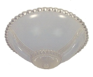 3 Hole Bead Chain Ceiling Light Shade 11 in Clear Blue Art Deco Glass  (Image1)
