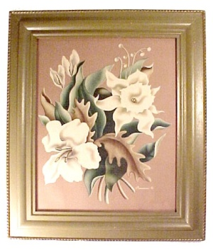 Turner Tropical Flowers Framed Art Print Eames Era 50s