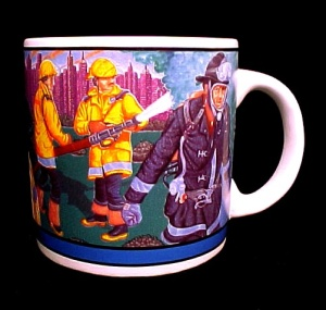 Fireman Firefighters Coffee Mug Cup Truck Helmet Rescue (Image1)