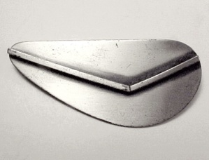 Danecraft Sterling Silver  Brooch Abstract Modernist (Image1)