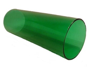 Cylinder 3 X 8 Tube Light Lamp Shade Glass Green Candle Holder Wall Sc (Image1)