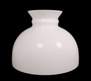 Aladdin 10 in Lamp Shade White Glass Student Oil Kerosene Table Desk (Image1)