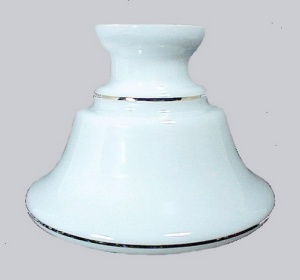 Milk Glass Astral Gold Stiped Student Oil Lamp Shade (Image1)