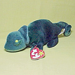 TY Beanie Baby Rainbow Chamelean Lizard Toy Tags Plush Stuffed (Image1)
