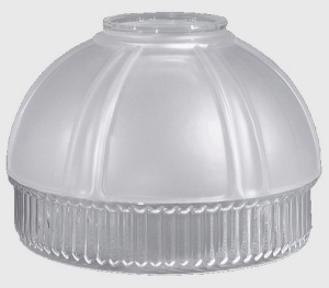 Frosted Clear Shade for Aladdin Hanging Lamp No 12 Lip 5 inch  (Image1)