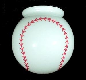 Light Shade Baseball Ball 6 in Globe Flush Mount Ceiling Fan Bar Lamp (Image1)