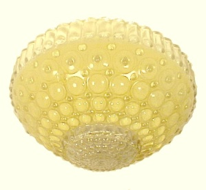 10 Inch Yellow Art Deco Glass Ceiling Light Shade 3 Hole Bead Chain