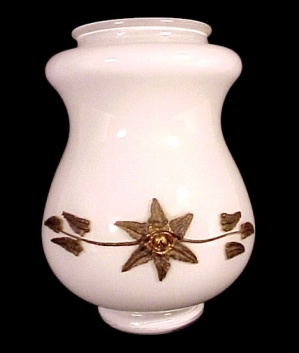 Lamp Font Or Shade White W/ Metal Floral Desk Table Wall Sconce