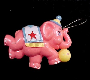 Sanitoy Pink Elephant Baby Crib Mobile Ornament Toy