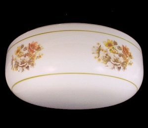 Ceiling Light Shade Globe Pan Floral White Glass 13 In Flush Mount