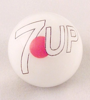 Seven 7 Up Soda Pop Glass Marble Collectors Logo (Image1)