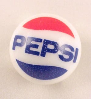 Pepsi Cola Soda Pop Glass Marble Collectors Logo Marbles