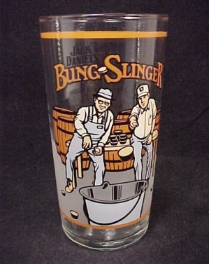 Jack Daniel's Bung Slinger Advertising Drinking Glass (Image1)