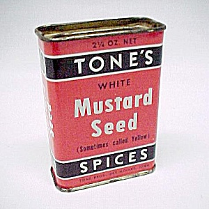 Tones Mustard Seed Spice Advertising Tin Vintage