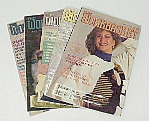 Lot of 5 Workbasket Magazines Knit Crochet 1990 (Image1)