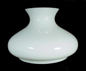 Student Lamp Shade 7 in Milk Glass Tam-O-Shanter Kerosene Oil White (Image1)