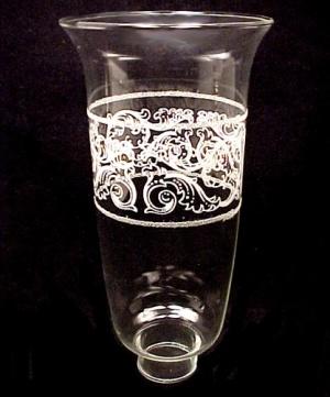 Clear Glass Scroll 1 5/8 X 9 Hurricane Light Lamp Shade (Image1)