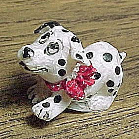 Miniature Mini Dalmation Puppy Dog Figurine For Shadow Box Figure