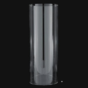 Cylinder 6 X 17 Tube Glass Koch Paidar Barber Pole Light Shade Candle