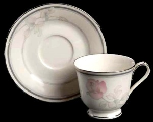 Noritake Ivory China Moonlight Rose Teacup Cup & Saucer (Image1)