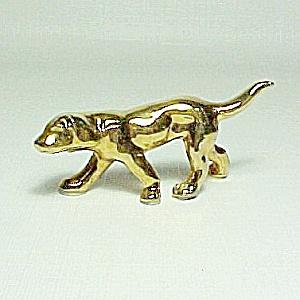 Porcelain China Gold Dog Miniature Figurine House Pet Figure Japan (Image1)