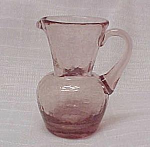 Light Amethyst Crackle Glass 3.5 in Jug Pitcher Creamer (Image1)