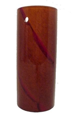 Pendant Light Shade Amber Art Glass 3 Hole Cylinder Tube 2 3/8 X 5 3/4 (Image1)