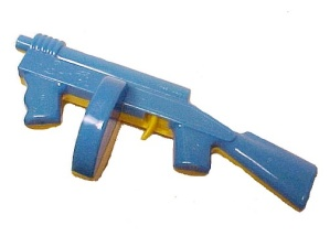 1950s Lional Plastic Machine Gun Toy Clicker Noise Maker Blue Yellow (Image1)