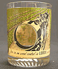 Lorox Herbicide Weed Killer Advertising Glass Tumbler