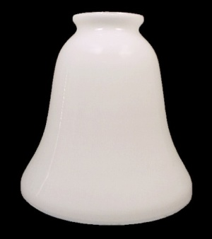 White Glass Bell Lamp Fixture Chandelier Shade 2 1/8 F (Image1)