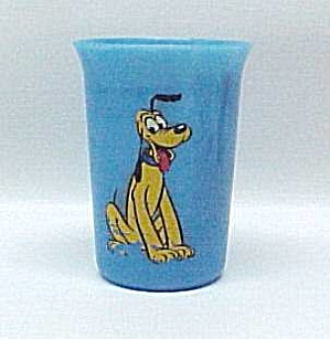 Walt Disney Pluto Drinking Glass Tumbler Vintage 1950s. (Image1)