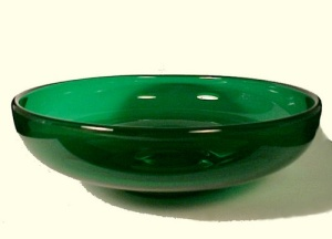 Cambridge Elegant Depression Glass Green Bowl Vintage