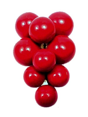 Red Grape Dress Clip Composition Balls Art Deco Art Nouveau Style (Image1)