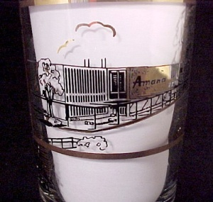8 Amana Appliance Iowa Advertising Drinking Tumblers Nib