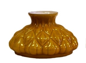 Amber Aladdin Kerosene Oil Lamp Glass Student Shade 10 in (Image1)