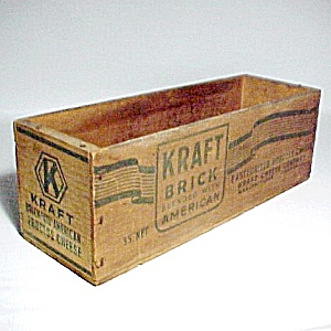 Kraft American Cheese Wood Display Box Chicago Vintage