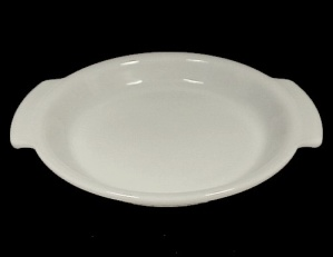 Fire King White 9 in Pie Plate Pan Anchor Hocking Glass (Image1)