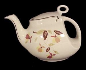 Hall China Autumn Leaf Streamline Teapot Jewel T Tea (Image1)