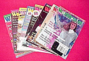 Lot of 8 Workbasket Magazines Knit Crochet 1994 - 1996 (Image1)