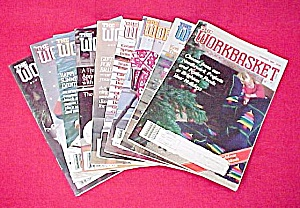 Lot of 9 Workbasket Magazines Knit Crochet 1988 - 1989 (Image1)