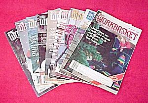 Lot of 9 Workbasket Magazines Knit Crochet 1988 - 1989 (Image1)