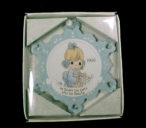 Enesco Precious Moments Christmas Tree Ornament in Box (Image1)