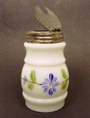 Antique Glass Castor Set Condiment Jar Bottle Victorian (Image1)