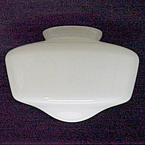 Glass Ceiling Fan Light 4 X 6 X 9.75 Globe Shade White (Image1)