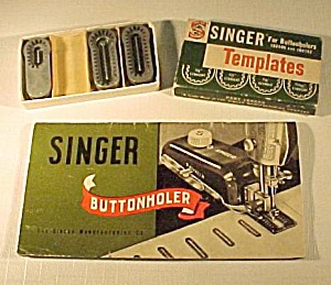 Singer Sewing Machine Buttonholer Booklet Tplate 160506